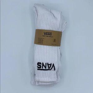 VANS Classic White Crew Socks 3 Pack